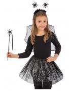 Spinnen-Kostümset für Kinder 4-teilig Halloween schwarz