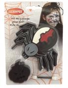 Spinnen-Makeup für Kinder Halloween-Schminkset 3-teilig schwarz-weiss-rot