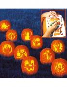 Kürbis-Schablonen zum Kürbis-Schnitzen Halloween 10 Stück 27x19cm