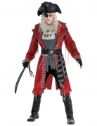 Zombie-Pirat Herrenkostüm Halloween rot-grau