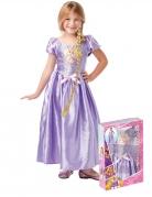 Rapunzel™Kostüm für Kinder mit Zopfperücke lila