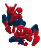 Spiderman™ Wanddekos für Partys 2 Stück blau-rot 30 cm