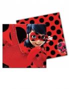 Miraculous™-Servietten Ladybug™-Papierservietten 20 Stück rot-schwarz 33x33cm