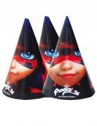 Ladybug™-Partyhüte Miraculous™-Fanartikel 6 Stück bunt 16x11