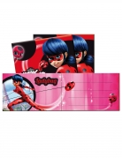 Ladybug™-Einladungskarten mit Briefumschlägen 6 Stück pink-rot
