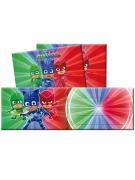 PJ Masks™ Einladungen mit Umschlägen für den Kindergeburtstag 12-teilig bunt 14 x 9 cm