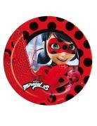 Ladybug™-Pappteller 8 Stück rot-schwarz 23cm