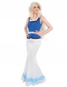 Falballa™-Lizenzkostüm Gallierin-Damenkostüm blau-weiss