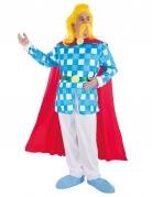 Troubadix™-Lizenzkostüm Gallier-Kostüm blau-rot