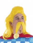 Troubadix™-Peruecke und Schnurrbart Lizenzartikel gelb