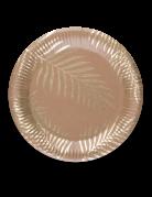 Pappteller Palmen Partydeko 8 Stück gold 23 cm