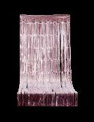 Fransenvorhang aus Kunststoff rosagold 244x92cm