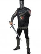 Einarmiger Ritter Herrenkostüm für Halloween und Fasching schwarz-grau