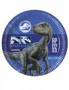 Jurassic World 2™-Pappteller Tischdeko 8 Stück blau 23cm