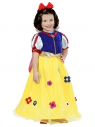 Märchenprinzessin-Kostüm für Kleinkinder Karnevalskostüm gelb-blau-rot