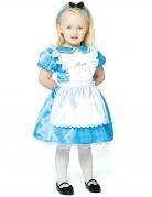 Alice im Wunderland™-Kostüm für Kleinkinder Karneval blau-weiss