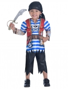 Piratenkostüm für Jungs Fasching blau-rot-weiss