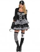 Piraten-Kostüm Seeräuberin schwarz-weiss
