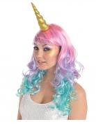 Einhorn-Horn Kopfschmuck Kostümaccessoire für Erwachsene gold