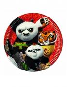 Kung Fu Panda 3™-Pappteller Tischdeko 8 Stück bunt 23cm