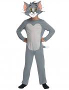 Katzenkostüm Tom™ für Kinder Karneval grau