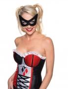 Harley Quinn™-Lizenzmaske Augenmaske schwarz