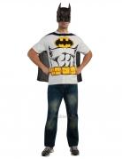 Batman™-Kostüm für Herren Lizenzkostüm schwarz-weiss-gelb