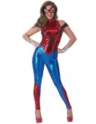 Spidergirl™-Kostüm für Damen rot-blau silber