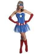 Miss America™-Kostüm Marvel™ für Damen blau-rot-weiss