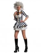 Beetlejuice™-Kostüm für Damen Halloweenkostüm schwarz-weiss