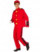 Spirou™-Kostüm für Erwachsene rot-gelb-schwarz