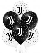 Juventus™-Luftballons Deko 12 Stück schwarz-weiss 30cm