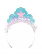 Meerjungfrauen-Pappkrone Prinzessinnen Partydeko 8 Stück rosa-blau