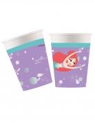 Arielle™ die Meerjungfrau Pappbecher-Set 8 Stück bunt 260 ml