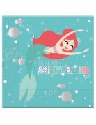 Arielle™ die Meerjungfrau Servietten 20 Stück bunt 33x33cm
