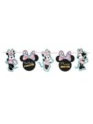 Minnie Maus™-Girlande Raumdeko Metalliceffekt schwarz-rosa 102x16cm