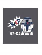 Star Wars™-Servietten 20 Stück Tischdeko grau-weiss-blau 33x33cm