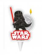 Darth Vader™-Geburtstagskerze Star Wars™-Partydeko schwarz-rot 7,5cm