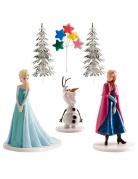 Frozen™-Dekorationsset Kuchendeko 6-teilig bunt 8,5cm