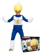 Super Saiyan Vegeta™-Kostüm für Kinder Dragon Ball™ Geschenkkoffer blau-weiss-gold