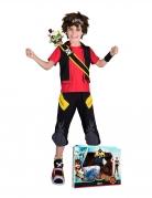 Zak Storm™ Kinderkostüm-Box schwarz-rot-gelb