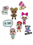 Lol Surprise™ Photobooth-Kit für den Kindergeburtstag 8-teilig bunt
