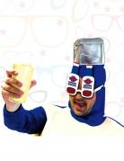 Scherzbrille Captain Vodka weiss-blau