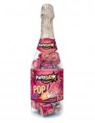 Flasche mit 20 Mini-Konfettikanonen Partydeko bunt 31x9cm