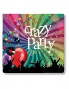 Servietten Crazy Party Partydeko 20 Stück bunt 16,5x16,5cm