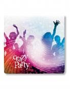 Papierservietten Crazy Party 20 Stück bunt 33x33cm