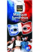 Leuchtende Frankreich-Maske Frankreich-Fanartikel phosphoreszierend blau-weiss-rot