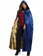 Wonder Woman™ Deluxe-Damenumhang blau-goldfarben-schwarz