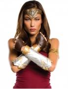 Wonder Woman™ Zubehörkit für Damen 5-teilig braun-silber-goldfarben