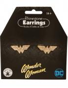 Wonder Woman™-Ohrringe für Damen mit Strass Accessoire gold